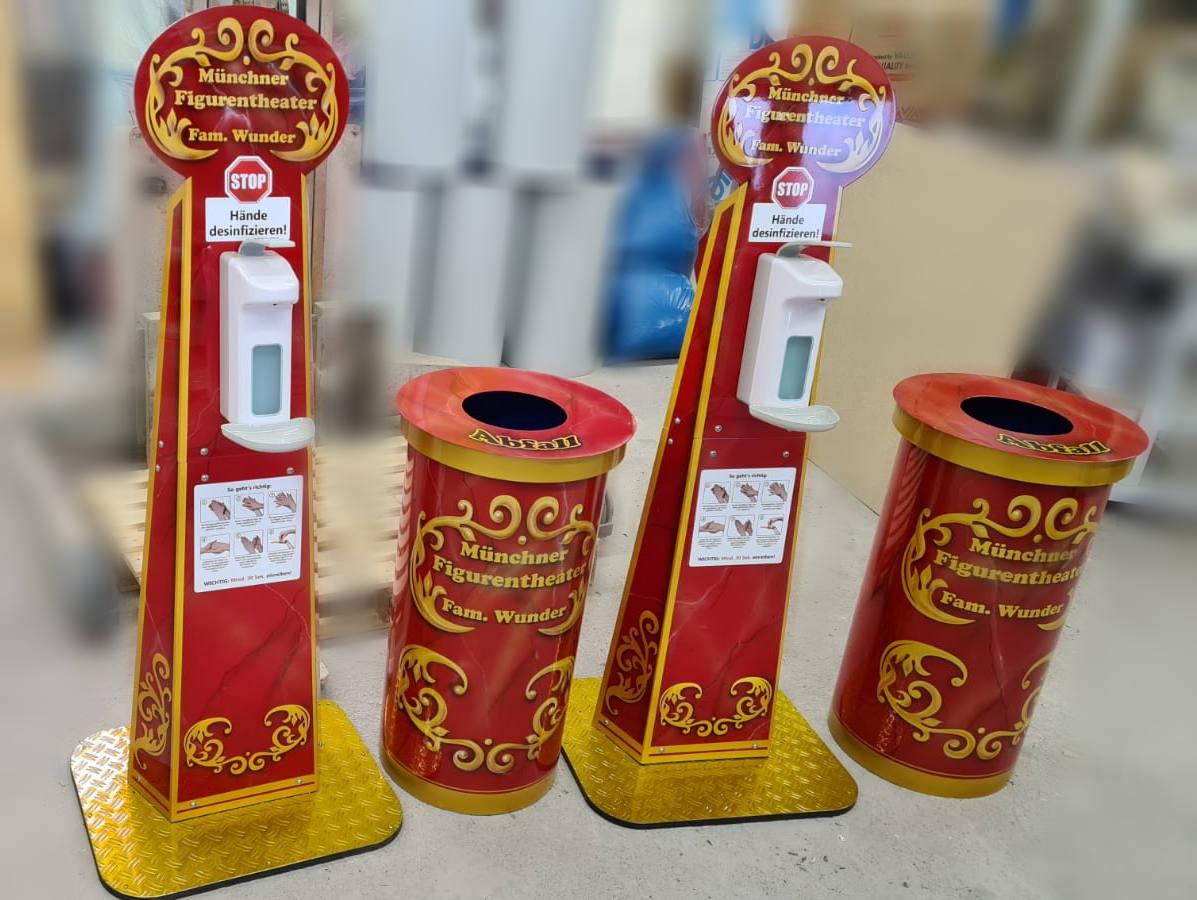 Design-Desinfektionsständer